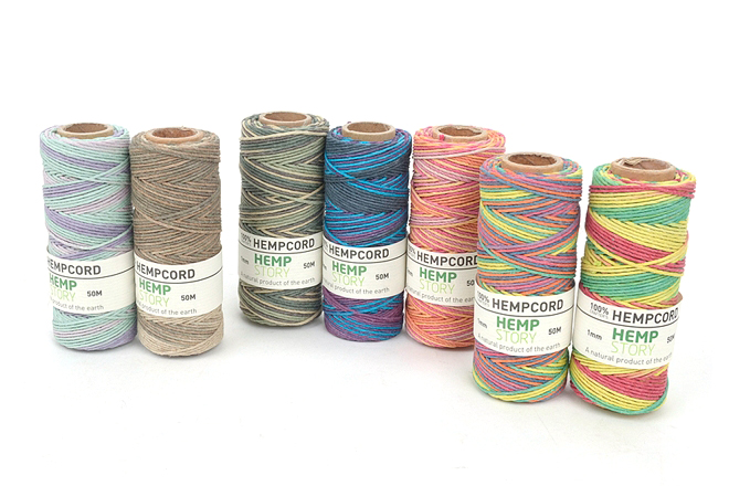 Hemp Cord 1.0mm햄프사(마麻사) - Mixed Color