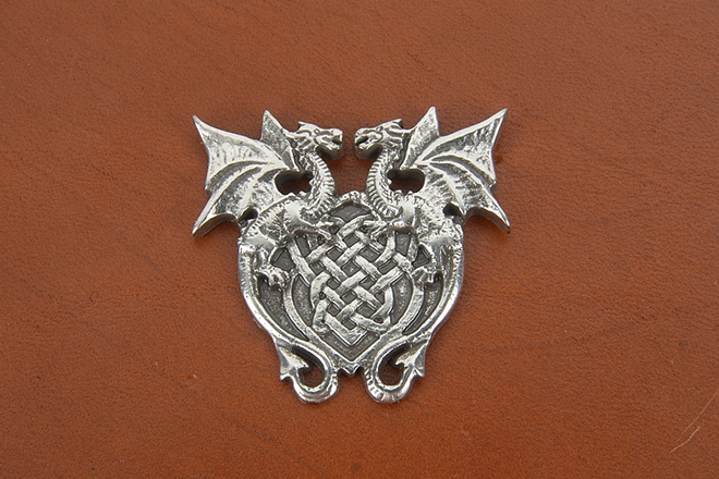 Wing Dragon Crest Concho방패형 드래곤 콘초Tandy Leather Factory
