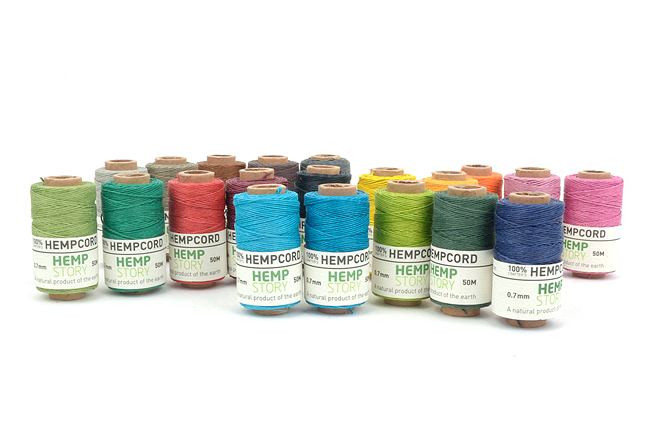 Hemp Cord 0.7mm햄프사(마麻사) - Solid Color