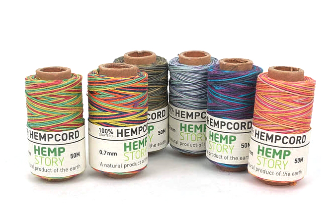 Hemp Cord 0.7mm햄프사(마麻사) - Mixed Color